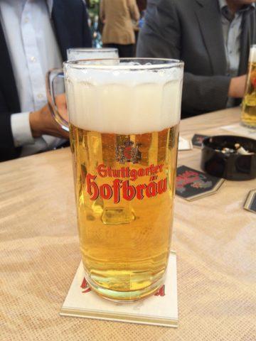 シュトゥットガルトでビール