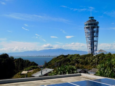 江の島灯台がよく見える