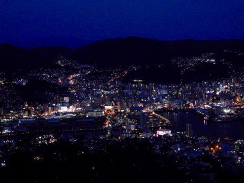 稲佐山から、明るめの夜景