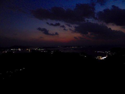 稲佐山の夕日が沈んだ後