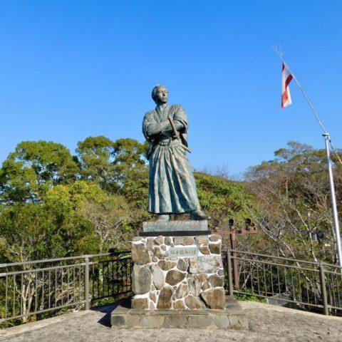 長崎の龍馬像