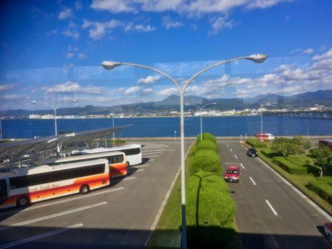 長崎空港から大村市内を眺める