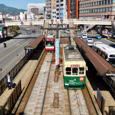 長崎駅前の路面電車