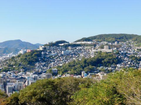 風頭公園からの長崎の街