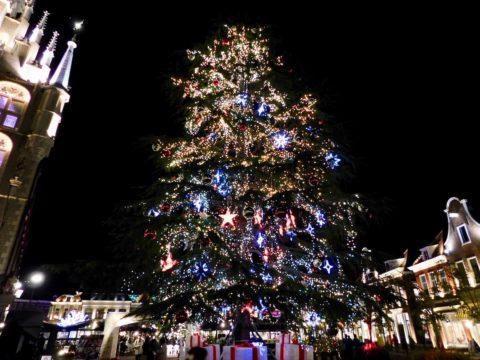 ハウステンボス夜のクリスマスツリー