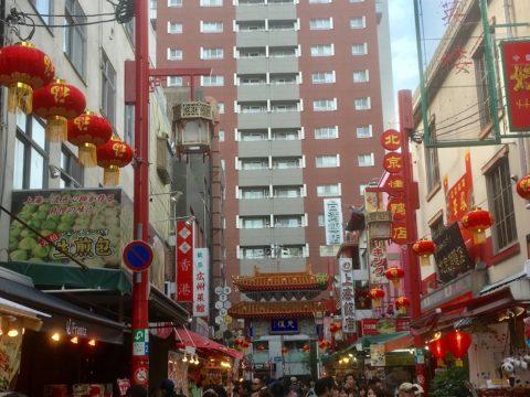 神戸中華街の街並み