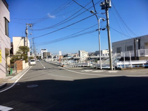 早川漁港へ_こっちの方向へ